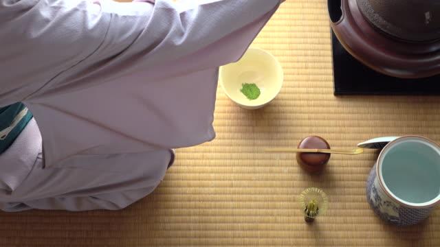 Traditional tea ceremony 'sado' 5 bulk 2/4 -4K- video