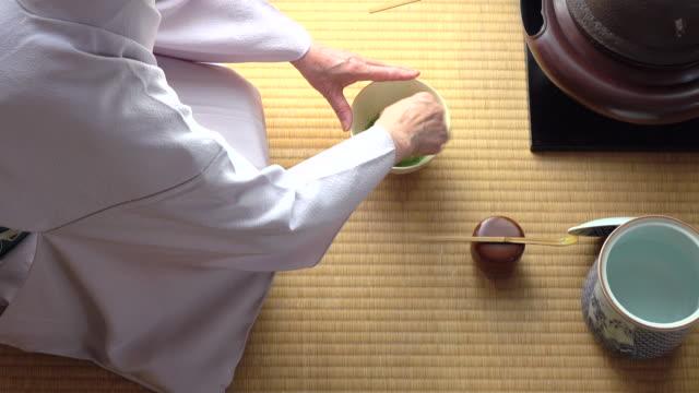 Traditional tea ceremony 'sado' 5 bulk 3/4 -4K- video