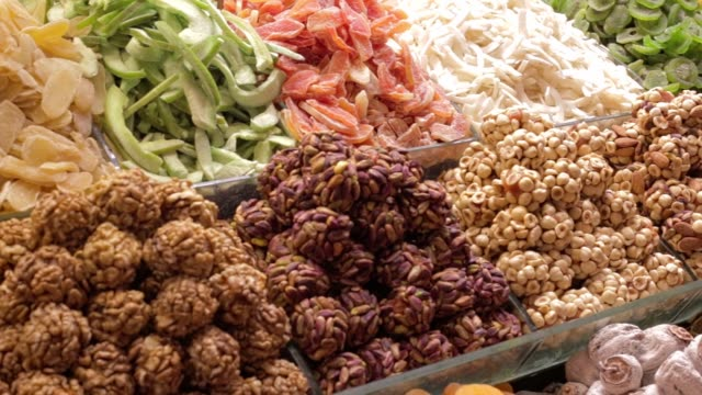Traditional Turkish Dry Fruits in Istanbul, Turkey