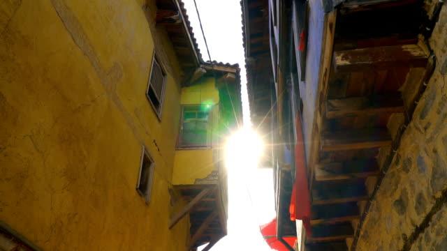 traditionella turkiska hus i bursa, turkey - stenhus bildbanksvideor och videomaterial från bakom kulisserna
