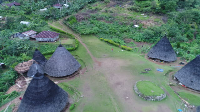 Traditional village Wae Rebo on Flores island in Indonesia. video