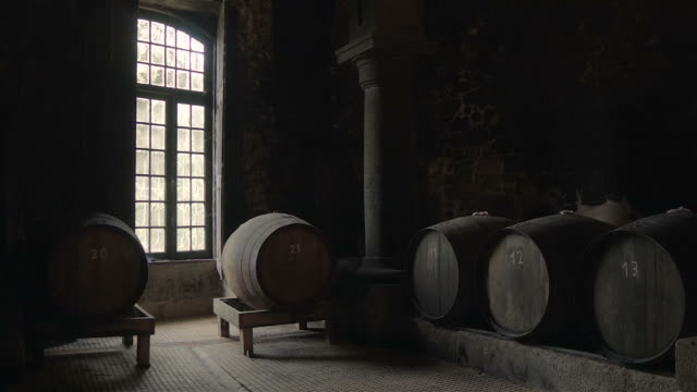 Traditional wine cellar video