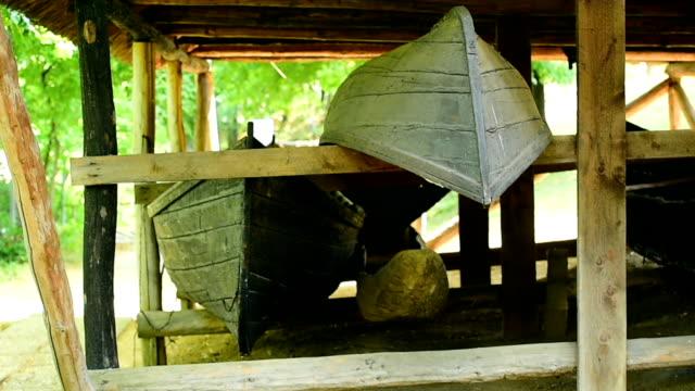 Traditional wooden fishing boats