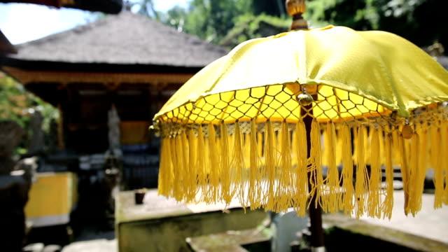 伝統の傘の島、バリ(インドネシア) - ヴィラ点の映像素材/bロール