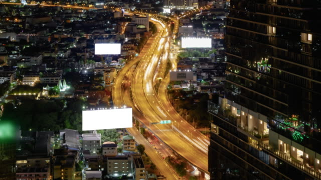 Traffic : 4K Timelapse (4096x2160) : TimeLapse of Highway Traffic Downtown in Bangkok Thailand. video