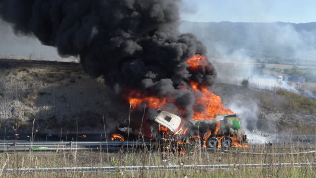 Traffic accident in Alava, Spain Traffic accident in Alava, Spain wreck stock videos & royalty-free footage