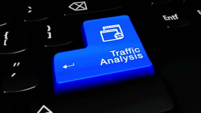 Traffic Analysis Round Motion On Computer Keyboard Button.