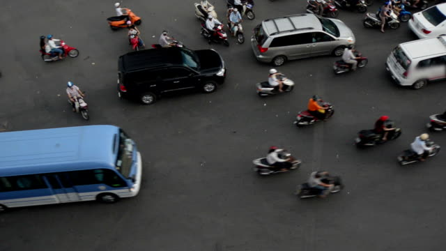 HCMC Traffic at Intersection video
