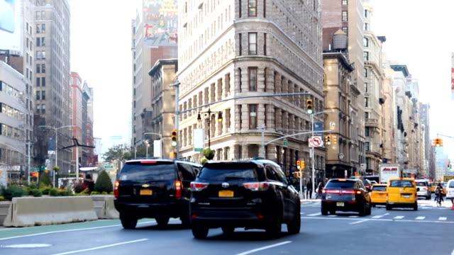Traffic at Madison Square New York video