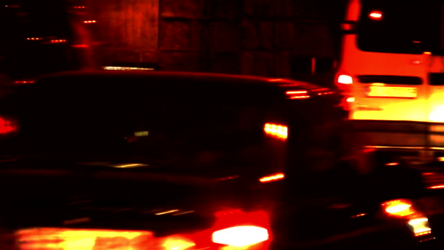 Traffic at night video