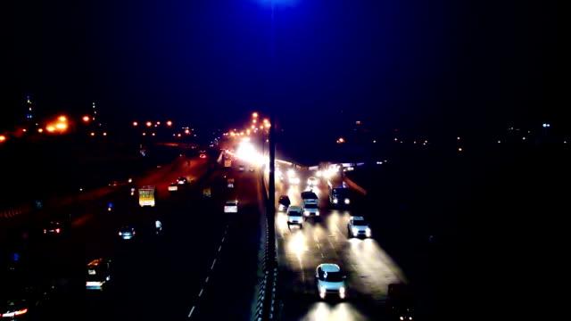 Traffic at night video