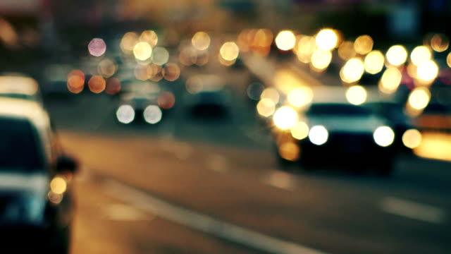 Traffic bokeh video