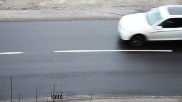 traffico auto passa da - passo montano video stock e b–roll