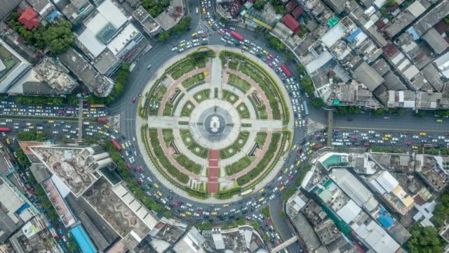 vidéos et rushes de timelapse de cercle de circulation - rond point