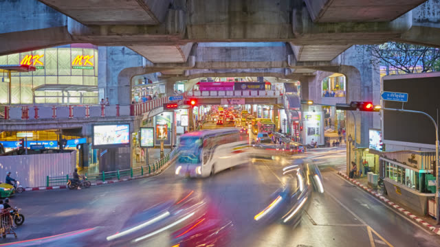 Traffic. City. Bangkok Cityscape traffic time lapse stock videos & royalty-free footage