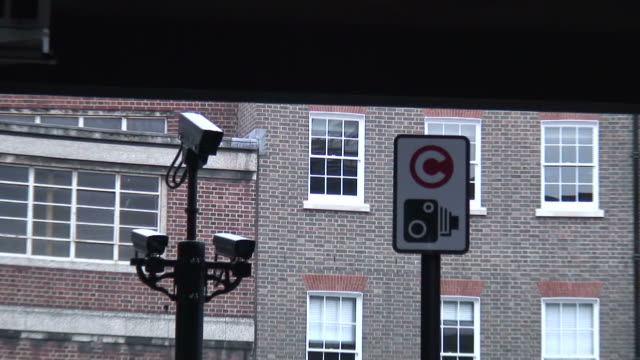 (HD1080i) Traffic Control, Climate Change: Congestion Camera, Sign - Push video