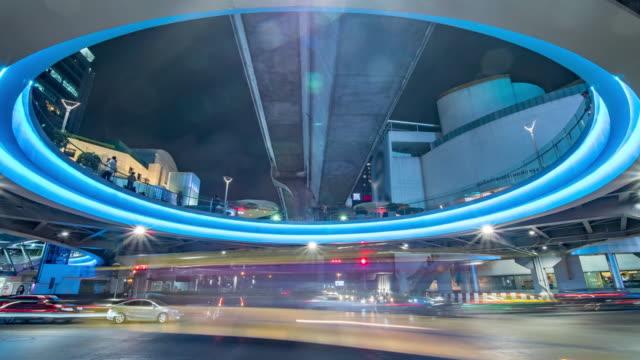Traffic illuminated night