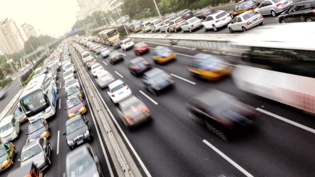 Traffic in Beijing, China video