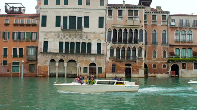 Traffic in Grand Canal, Venice, Italy video