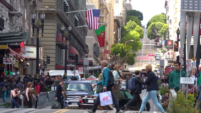 Traffic in San Francisco Financial Center video
