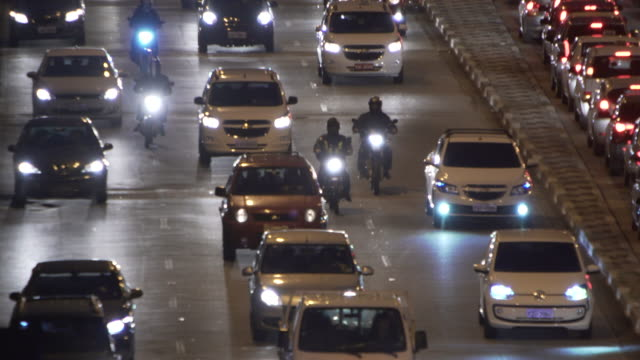 traffic in sao paulo - tilt down stock videos & royalty-free footage