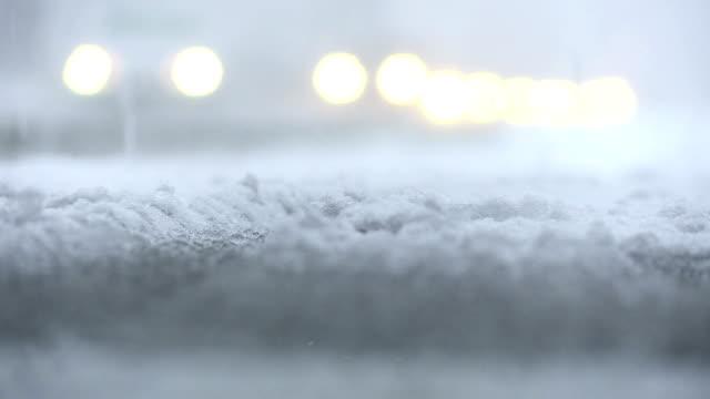 traffic in the snow storm - snöstorm bildbanksvideor och videomaterial från bakom kulisserna