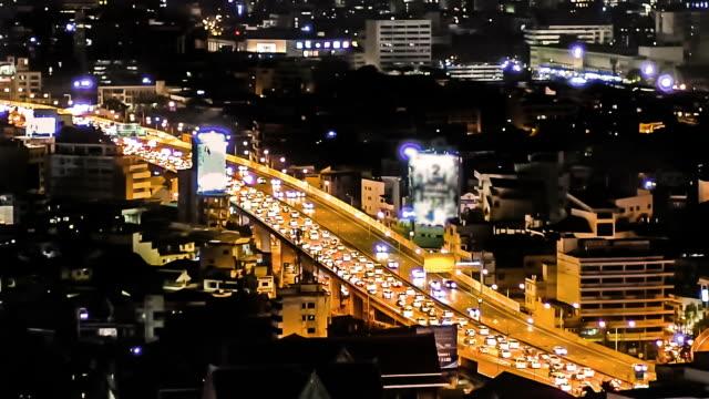 Traffic jam at night time video