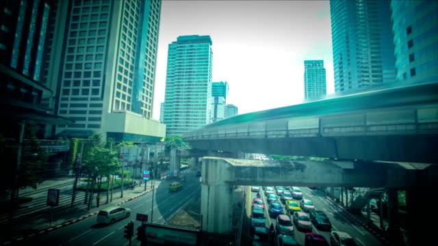 Traffic Jam In Bangkok, Thailand video