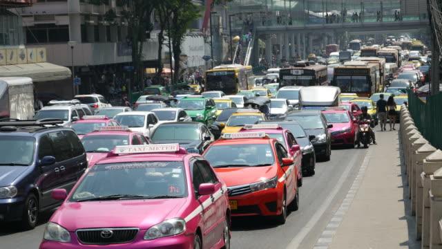 Traffic jam in Bangkok video