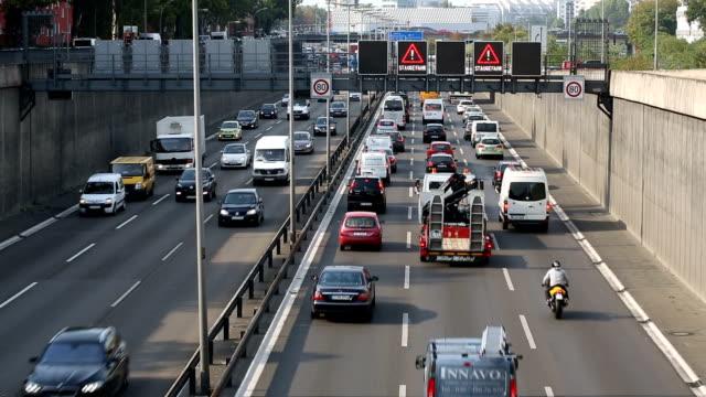Traffic Jam in Berlin Traffic Jam in Berlin, Realtime autobahn stock videos & royalty-free footage