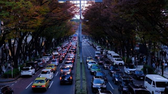 夜の日本の交通渋滞 - 渋滞点の映像素材/bロール