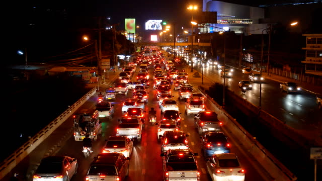 traffic jam night 4k resolution video