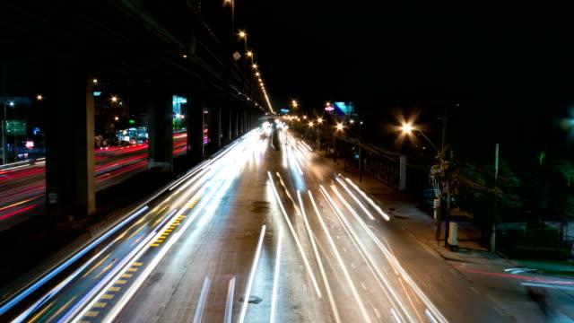 Traffic jam (Borommaratchachonnani Road) rush hour at night time in Bangkok.