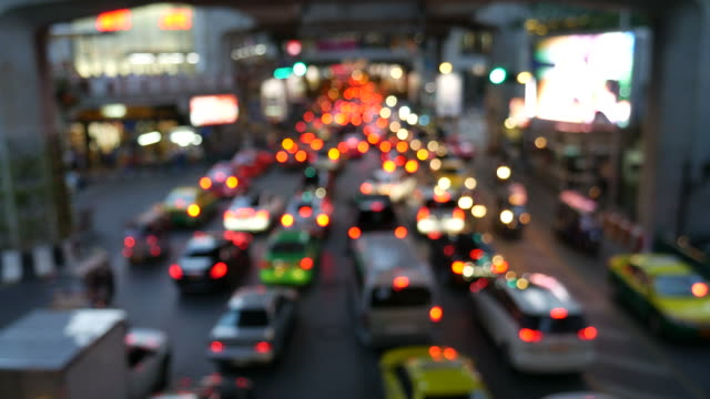 Traffic jams in Bangkok video