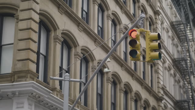 Traffic Light at Intersection in USA video