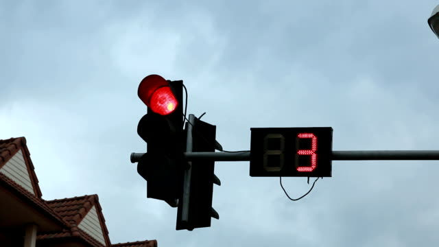 Traffic Light Signal With Counting The Time video