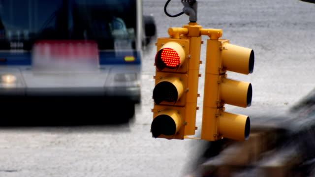 信号のタイムラプス - 交通信号機点の映像素材/bロール