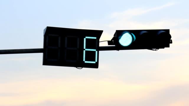 Traffic lights against beautiful sky video