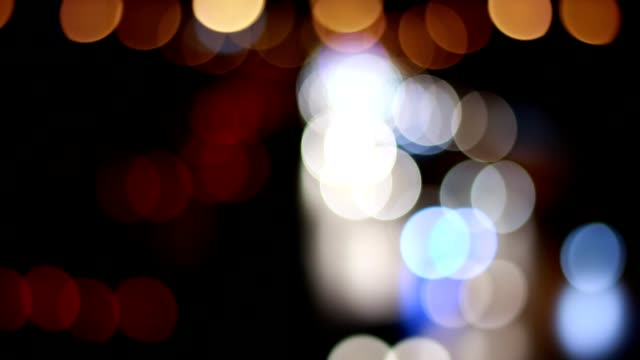 Traffic lights, night traffic that blur Traffic lights, night traffic that blur lamp shade stock videos & royalty-free footage