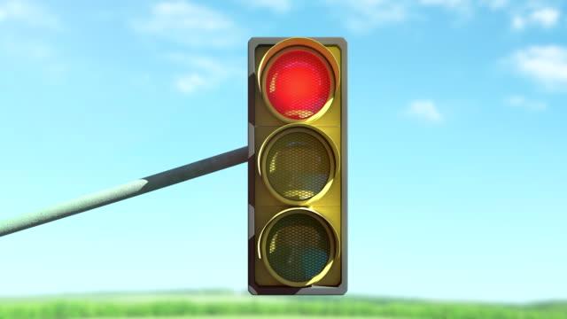 vídeos y material grabado en eventos de stock de semáforos - stop sign