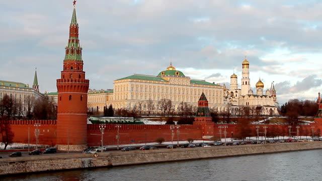 trafik nära kreml i moskva - kreml bildbanksvideor och videomaterial från bakom kulisserna