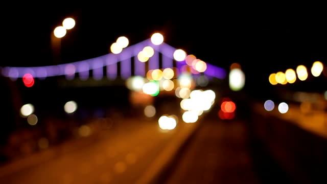 Traffic of a night city. video