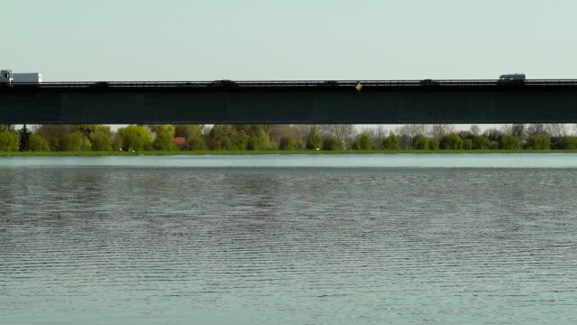 PAN Traffic On Bridge Over Big River (UDH to HD) video