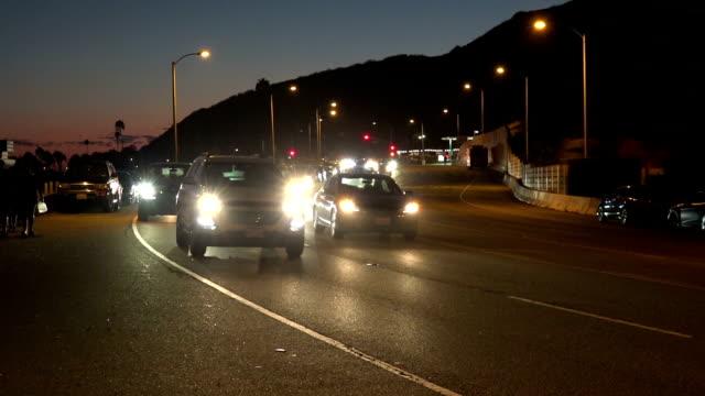 Traffic on coast highway video
