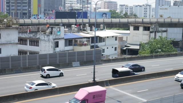 Traffic on express way in Bangkok, Thailand video