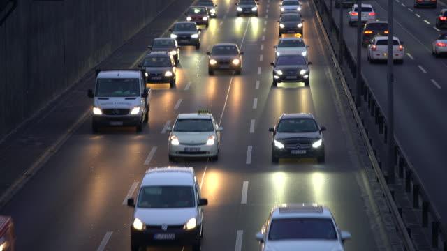 Traffic on German Autobahn, Time Lapse