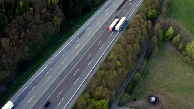 Traffic on German highway Traffic on German highway A3 - aerial view autobahn stock videos & royalty-free footage