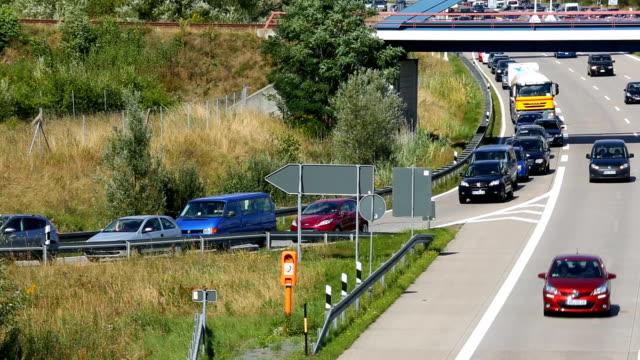 Traffic on German Highway video