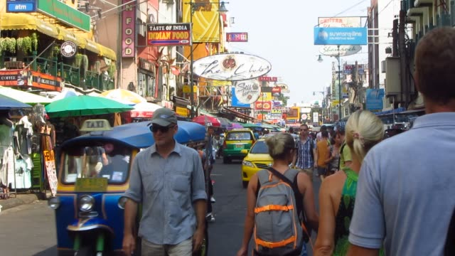 Traffic on Khao San Road video