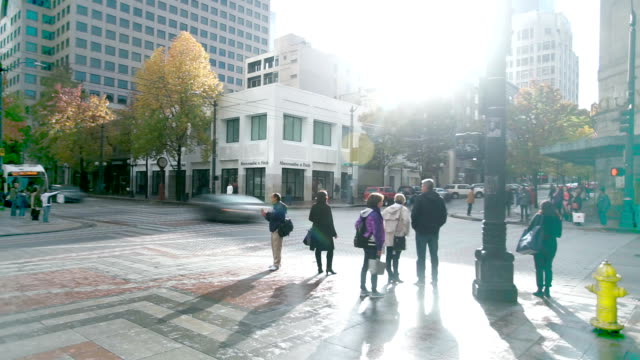 traffic on road in midtown of modern city timelapse traffic on road in midtown of seattle,usa timelapse seattle stock videos & royalty-free footage